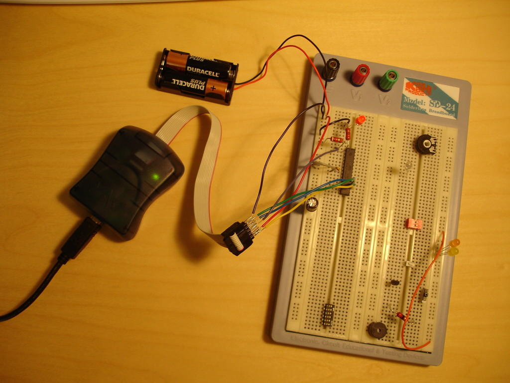 Indreks Timer Project How To Configure Watchdog Timers Of Avr Microcontroller Atmega16 This Picture Shows My Setup Test It Out